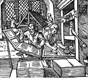 Printers at Work, Anon., 1568